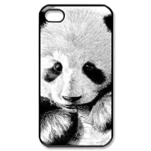 LIULAOSHI Cute Panda Phone Case for iphone4 Black [Pattern-6] by mcsharks