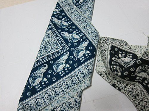 2 pcs.Scarf Handkerchief Black Elephant Novelty Bandana Paisley Cotton Bandanas (Republic Banana Scarves)