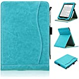 ACdream Kindle Paperwhite Case (10th Generation-2018), Stand Leather Wallet Cover Case for All New and Previous Kindle Paperwhite with Auto Wake Sleep Feather [Bonus Stylus], Sky Blue
