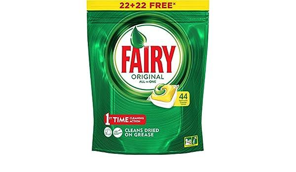 Finish Capsulas Lavavaj Fairy 21+21 D Limon 4 Unidades 100 ml ...