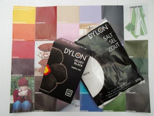 Dylon Machine Dye Starter Kit - CHINA BLUE - Contains Dye, Salt and Colour Guide