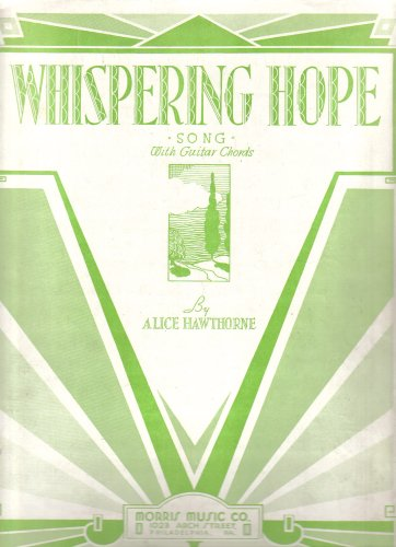 Whispering Hope Sheet Music (Song With Guitar Chords)
