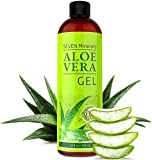 Aloe Vera GEL – 99% Organic, 12 oz  – NO XANTHAN, so it Absorbs Rapidly with No Sticky Residue – SEE RESULTS OR MONEY-BACK