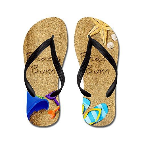 CafePress Beach Bum - Flip Flops, Funny Thong Sandals, Beach Sandals Black