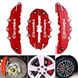 Mintuse Car Brake Caliper - 4PCS 3D Red Car