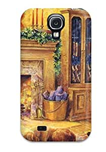 Flexible Tpu Back Case Cover For Galaxy S4 - Christmas 39