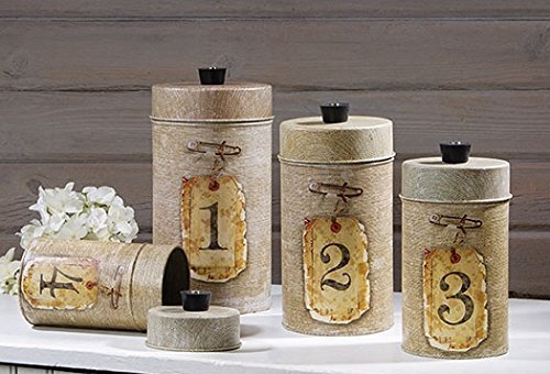 Primitive Kitchen Canisters - 4