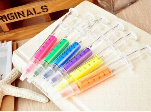 BestGrew 24pcs Syringe Highlighters Fluorescent Needle Watercolor Pen with 6 Colors by Bestgrew (Image #3)