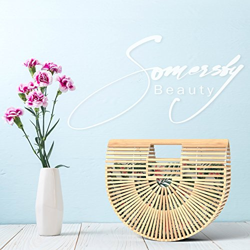 Bamboo Handbag - Womens Basket Bag with Purse Insert - Handmade Summer Tote by Somersby Beauty (Image #7)