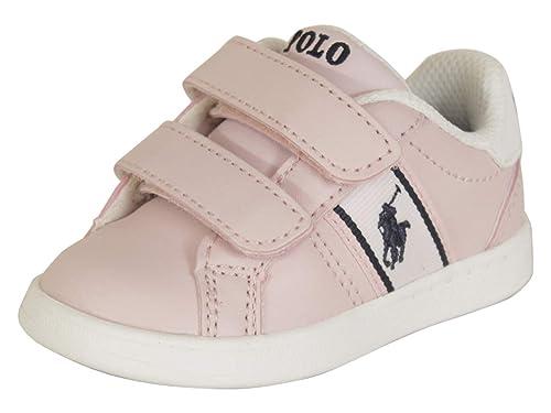 Polo Ralph Lauren Quigley EZ Rosa Claro/Blanco Suave Bebé Zapatillas De Deporte Zapatos: Amazon.es: Zapatos y complementos