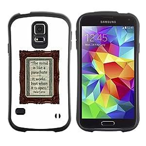 Suave TPU GEL Carcasa Funda Silicona Blando Estuche Caso de protección (para) Samsung Galaxy S5 / CECELL Phone case / / poster notebook diary white text writing /