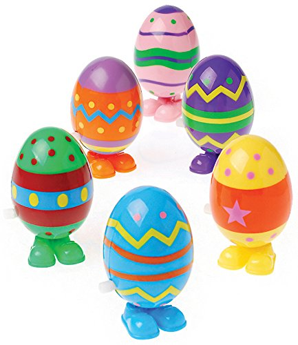 Dozen Wind Up Hopping Assorted Easter Eggs