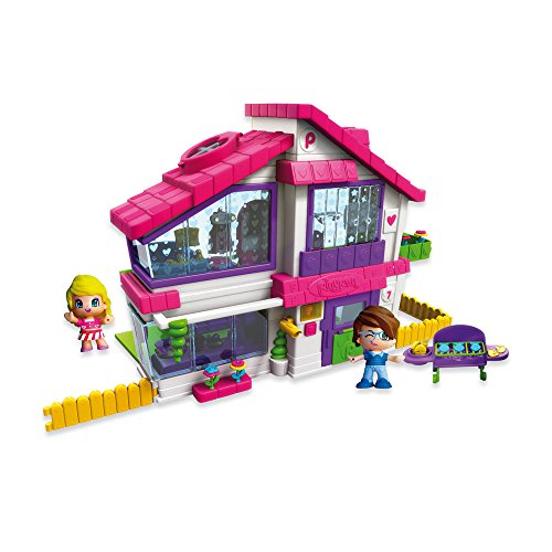 Pinypon Family House. Grand Villa with Barbeque and 2 Figures by Pinypon