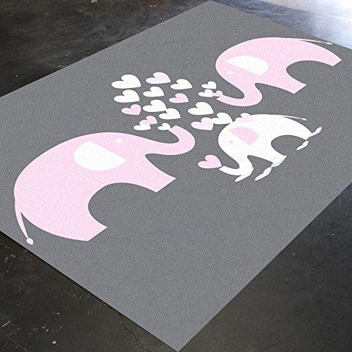 Elephant Nursery Decor, Elephant Mat, Pink Elephant