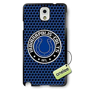 NFL Indianapolis Colts Team Logo Diy For SamSung Galaxy S6 Case Cover Black PC(Hard) Soft - Black