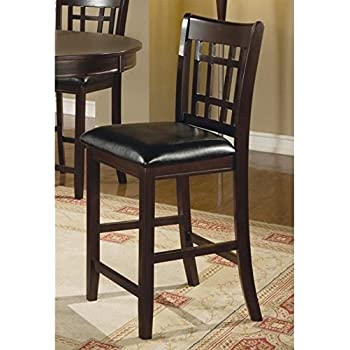 Amazon Com White Leather Counter Height Stools Set Of 2
