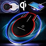 Charger For Samsung Note 9, Iusun Clear Qi Wireless Charger Charging Pad For Samsung Galaxy Note 9/Samsung Galaxy S9/iPhone 8/iPhone 8 Plus/Samsung Galaxy Note 8/Samsung S6 S6 Edge (Black)