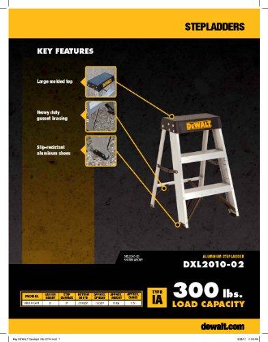 DeWalt DXL2010-02 2-Feet Aluminum Stepladder Type IA with 300-Pound Duty Rating, 2-Feet by DEWALT (Image #1)