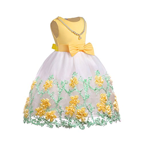 (NSSMWTTC Girl Party Dress Princess Kids Knee Length Sleeveless Halloween Prom Dresses Size)