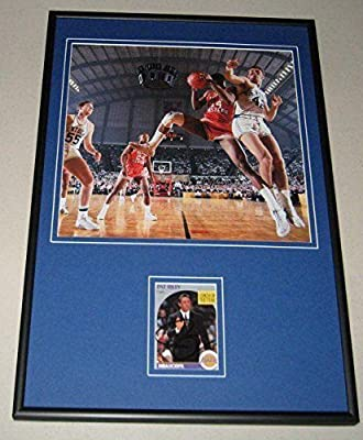 Pat Riley Signed Photograph - Framed 12x18 Display Kentucky vs Texas Western - Autographed NBA Photos