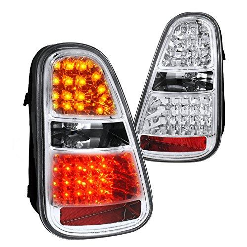 Spec-D Tuning LT-MINI06CLED-TM Mini Cooper S Chrome Led Tail Lights Brake Reverse Signal (Coupe 2dr Brake)