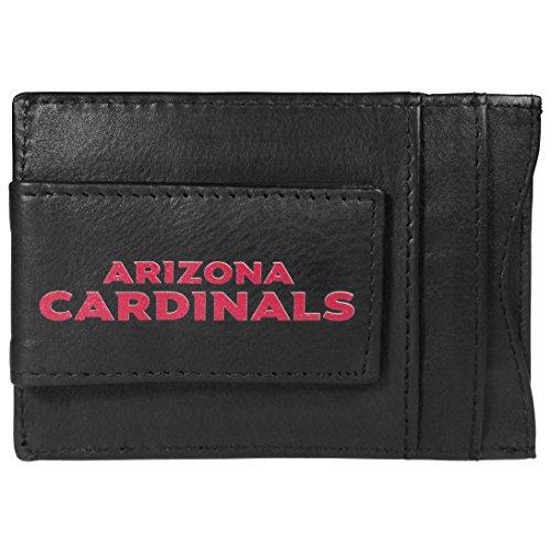 Siskiyou NFL Arizona Cardinals Logo Leather Cash and Cardholder, Black