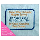 Embroidered Quilt Label Personalized, Sewing Labels for Handmade Items, One Custom 4x5.5'' Label, USA