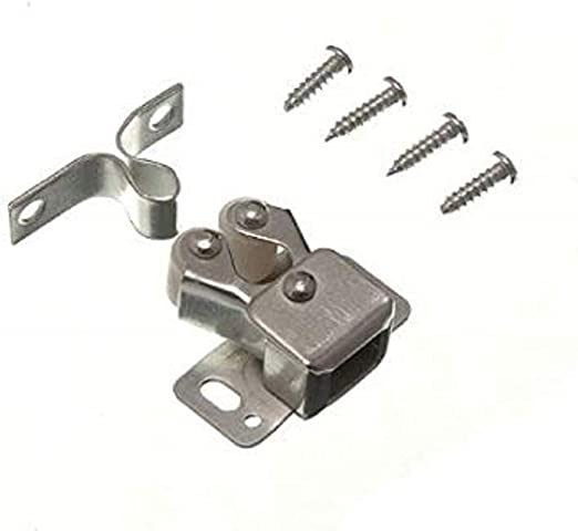 4Pcs Vintage Double Roller Catch Screws Iron Cabinet Cupboard Stopper Latch