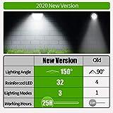 Claoner 32 LED Solar Landscape Spotlights, Wireless
