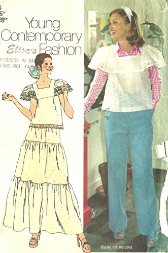 Simplicity vintage sewing pattern 5387 smock top, tiered skirt, pants - Size 14