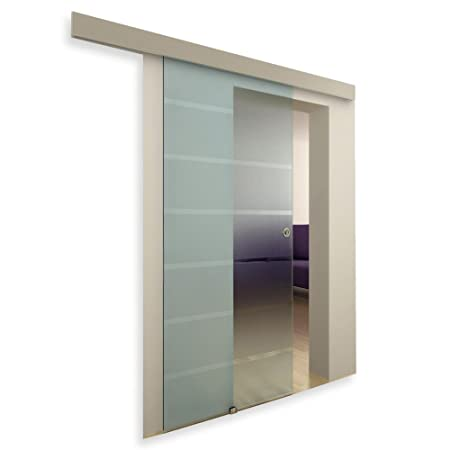wall mounted glass sliding door dépoli opaque 117 amazon co uk