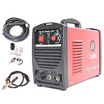 Tigmig TM 50 Cut - Cortadora con chorro de plasma inverter, 40 amp, 10 mm: Amazon.es: Bricolaje y herramientas