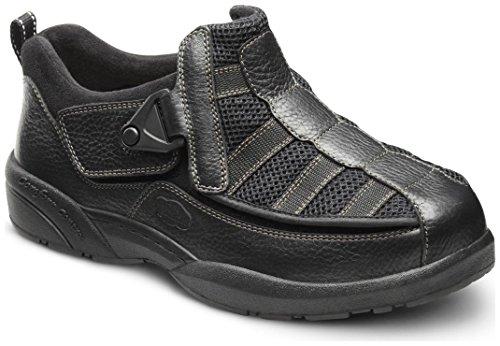 Dr. Comfort Men's Edward X Black Stretchable Diabetic Casual Shoes by Dr. Comfort