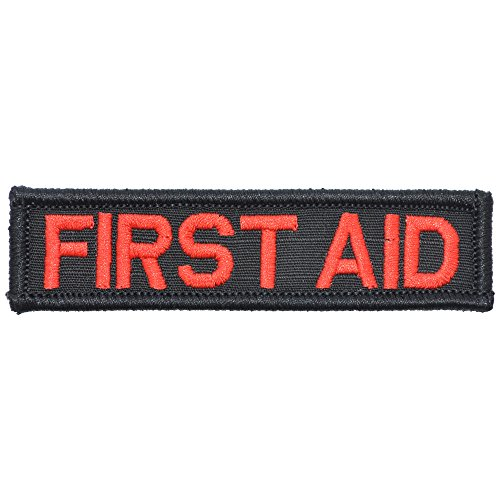 First Aid - 1x3.75 Morale Patch (Black/Red)