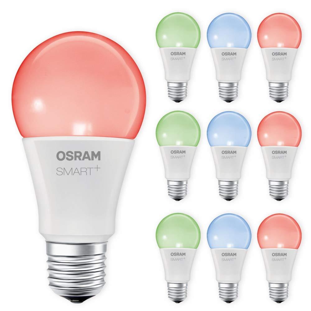 OSRAM SMART+ LED E27 Lampe RGB RGBW dimmbar Lightify Echo Alexa kompatibel Auswahl 10er Set