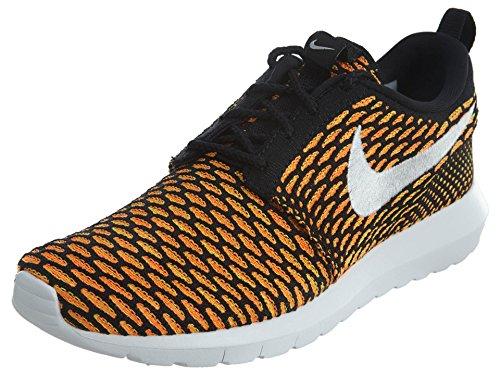 Nike Men's Roshe NM Flyknit, BLACK/WHITE-TOTAL ORANGE-VOLT, 8 M US 677243-018