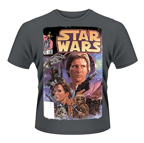 Star Wars Comic Princess Leia Han Solo offiziell Männer T-Shirt Herren