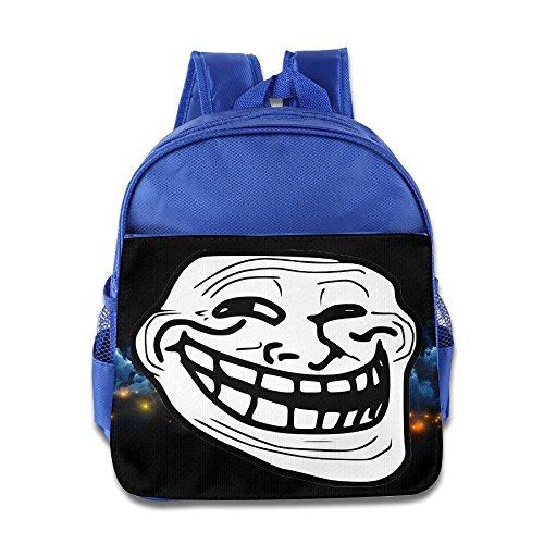 Troll Face Problem Funny Kids School RoyalBlue Backpack Bag]()