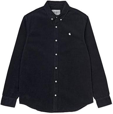 Carhartt WIP Madison Cord - Camisa larga para hombre azul marino, blanco S: Amazon.es: Ropa y accesorios