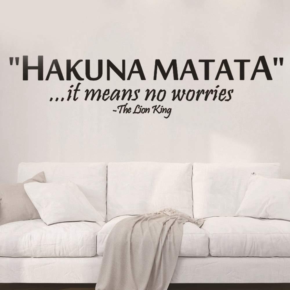 Lion King Hakuna Matata No Worry Quote Tatuajes de pared ...