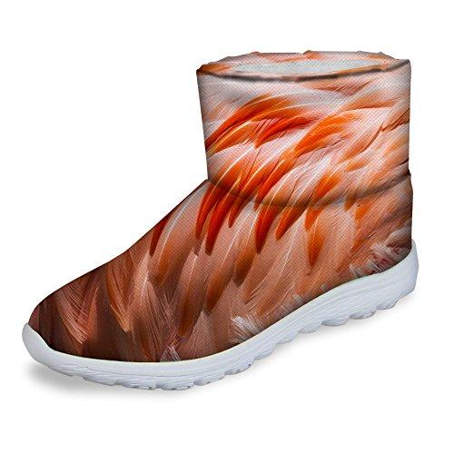 Fashion Slip Footwear Flat Waterproof On U Women Red DESIGNS Winter Warm Short Snow FOR Heel Boots 4FqEYw1