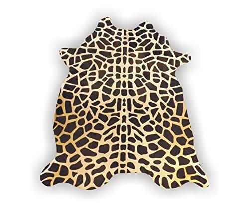 Giraffe Print Leather Pure Brazillian Cowhide Skin Rug ()