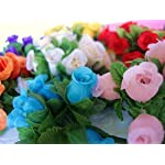 144pc-Poly-Silk-Artificial-Rose-Buds-Flower-4-Stem-Wedding-Bouquet-H415-Ivory-US-SELLER-SHIP-FAST