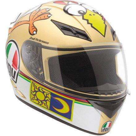 AGV K3 - Casco integral de motocicleta para pollo, Multicolor, XS