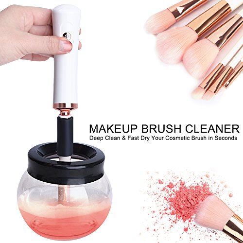 SKINOSM Electric Makeup Brush Cleaner Automatic Brush Cleaning Tool Deeply Clean & Dry for All Sizes of Brushes in Seconds Perfect Valentine's Gift