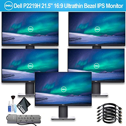 """Dell P2219H 21.5"""" 16:9 Ultrathin Bezel IPS Monitor with 1 - PowerStrip and 5 HDMI Cables - 5 Pack -  P2219H_EDI_4"""