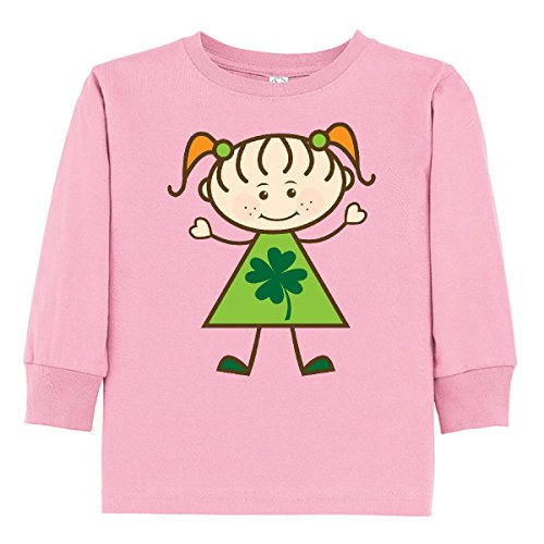 Irish Girl Light T-shirt - inktastic ST Patricks Day Irish Girl Toddler Long Sleeve T-Shirt 3T Pink
