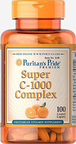 Puritans Pride C-1000 Complex Coated Caplets, 100 Count