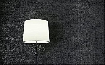 Buy Grey Black Wall Papers Plain Black Wallpaper Adhesive Bonded Tv Background Wall Of Dark Gray And Black Wallpapers Grey Black Online At Low Prices In India Amazon In