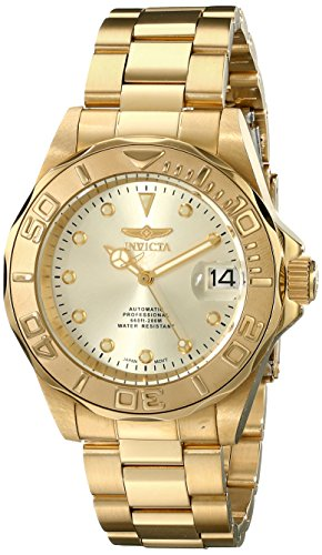 Invicta Men's 17054 Pro Diver Automatic 18k Gold Ion-Plated Stainless Steel (18k Gold Automatic Watch)